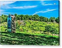 Culp's Hill And Cemetary Ridge Gettysburg Battleground Acrylic Print by Bob and Nadine Johnston
