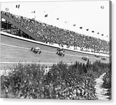 Culver City Speedway Action Acrylic Print by Underwood Archives