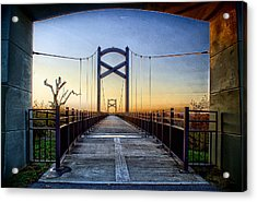 Cumberland River Pedestrian Bridge Acrylic Print by Patrick Collins