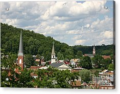 Cumberland Steeples Acrylic Print by Jeannette Hunt