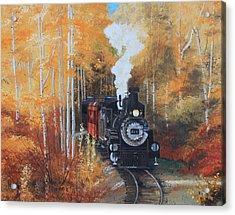 Cumbres And Toltec Railroad Steam Train Acrylic Print by Cecilia Brendel