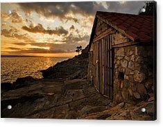 Cunski Beach At Sunrise Acrylic Print