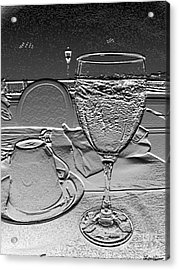 Cup And Glass Acrylic Print by Lyric Lucas