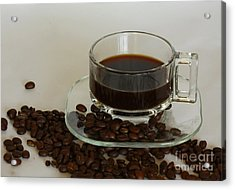 Cup Of Java Acrylic Print by Inspired Nature Photography Fine Art Photography