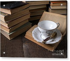 Cup Of Tea With Old Friends Acrylic Print by Edward Fielding
