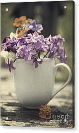 Cup Of Wildflowers Acrylic Print by Edward Fielding