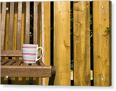 Cup On Garden Chair Acrylic Print
