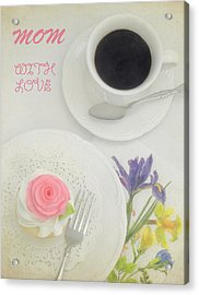 Cupcake And Coffee For Mom Acrylic Print by Sandi OReilly