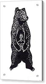 Cupcake Bear Acrylic Print by Coralette Damme