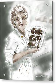 Cupcake Marge Acrylic Print