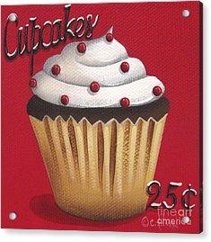 Cupcakes 25 Cents Acrylic Print by Catherine Holman