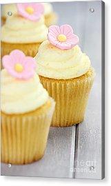 Cupcakes In A Row Acrylic Print by Stephanie Frey
