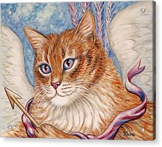Cupid Kitty Acrylic Print