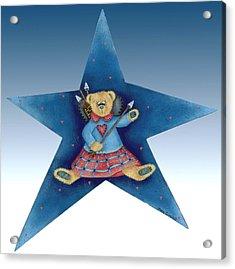 Cupid's Teddy Bear Acrylic Print by Tracy Campbell