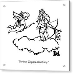 Cupid's Twin Shoots Coupons From Up On A Cloud Acrylic Print