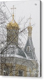 Cupola And Belfry Of The Church Of St Elijah The Holy Prophet I Acrylic Print