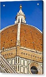 Cupola On Florence Duomo Acrylic Print by Liz Leyden