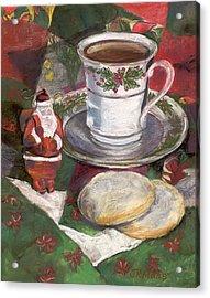 Cuppa Christmaas Tea Acrylic Print by Julie Maas