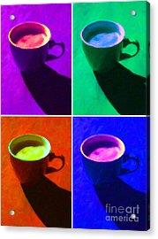Cuppa Joe - Four Acrylic Print by Wingsdomain Art and Photography