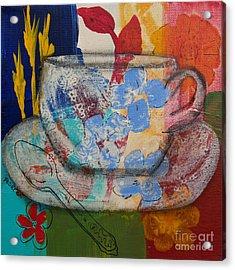 Cuppa Luv Acrylic Print by Robin Maria Pedrero