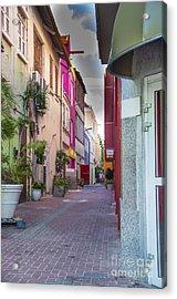 Curacao Alley Acrylic Print