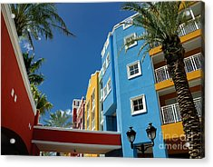 Curacaos Colorful Architecture Acrylic Print by Amy Cicconi