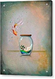 Curiosity Acrylic Print by Cindy Thornton