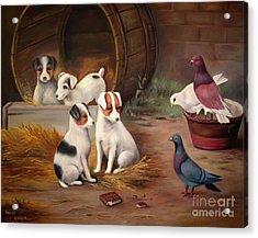 Curious Friends Acrylic Print by Hazel Holland