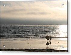 Curious Kids On The Beach Acrylic Print