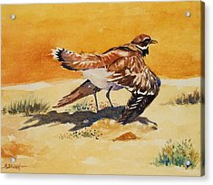 Acrylic Print featuring the painting Curious Killdeer by Al Brown
