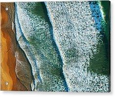 Curl Curl Aerial Acrylic Print by Ignacio Palacios
