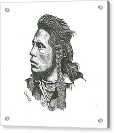 Curley Acrylic Print