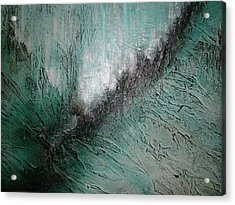 Acrylic Print featuring the painting Current Of Greens by Tamara Bettencourt