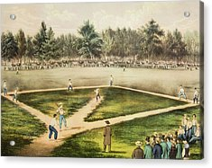 Currier & Ives Engraving Championship Acrylic Print
