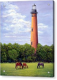 Currituck Lighthouse Acrylic Print by Fran Brooks