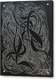 Cursive Curious 2 Acrylic Print by Nancy Kane Chapman