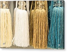 Curtain Ties Acrylic Print by Tom Gowanlock