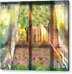 Curtains Acrylic Print