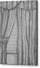 Curtains In A5 Acrylic Print