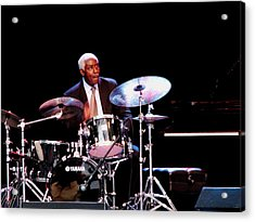 Curtis Boyd On Drums Acrylic Print by Cleaster Cotton