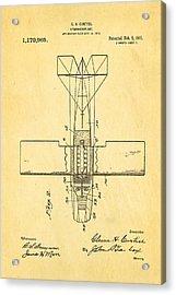 Curtiss Hydroplane Patent Art 2 1916 Acrylic Print by Ian Monk