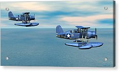 Curtiss Soc Seagull Acrylic Print by Walter Colvin