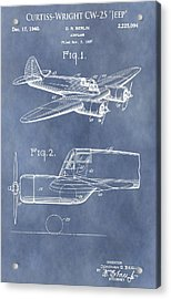 Curtiss-wright Cw-25 Patent Acrylic Print by Dan Sproul