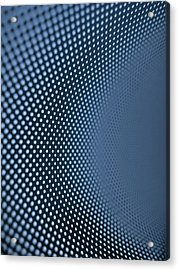 Curved Dot Pattern Acrylic Print by Ralf Hiemisch