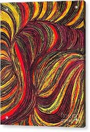 Curved Lines 3 Acrylic Print by Sarah Loft