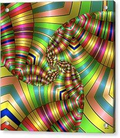 Acrylic Print featuring the digital art Curves Ahead by Manny Lorenzo