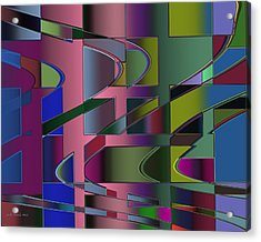 Curves And Trapezoids 3 Acrylic Print