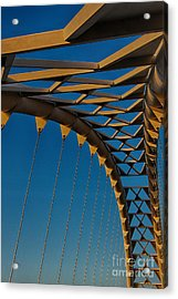 Curves And Triangles Acrylic Print