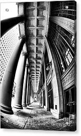 Curves At Union Station Acrylic Print by John Rizzuto