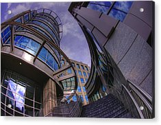 Acrylic Print featuring the photograph Reflections And Curves by Dennis Baswell